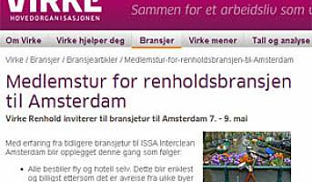 Medlemstur for renholdsbransjen til Amsterdam