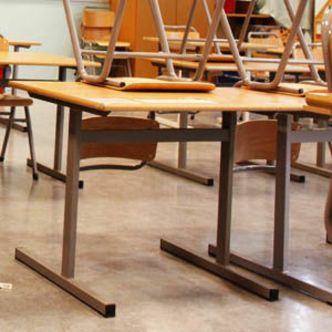 Skrivebord pult klasserom trondeh