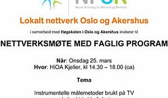 NFSR inviterer til nettverksmøte