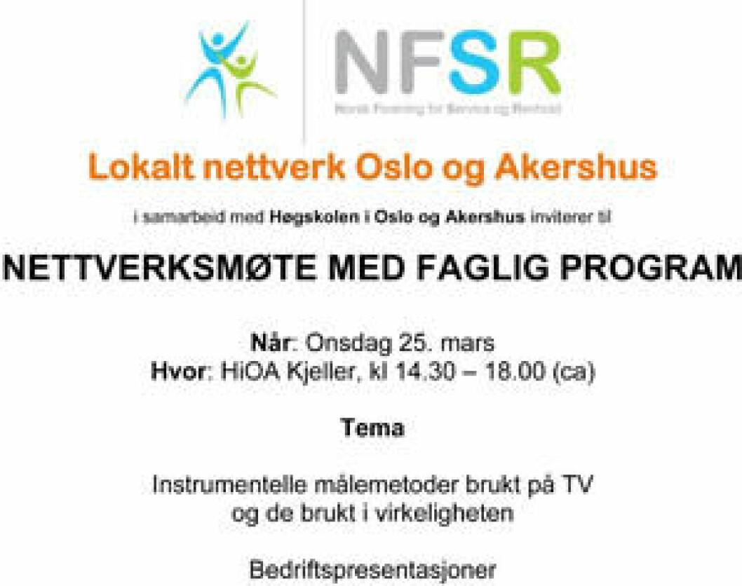 NFSR nettverksmøte 25.03.2015