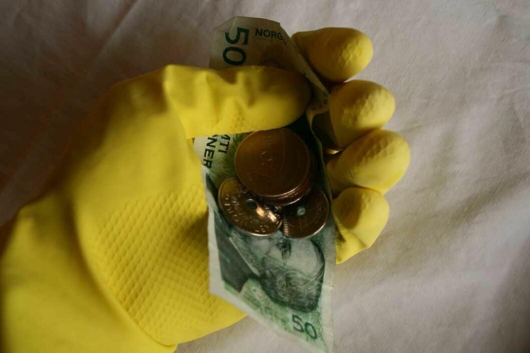penger i gummihanske