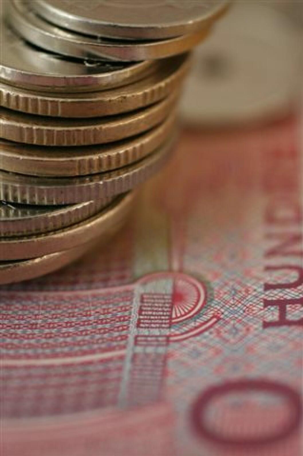 penger - høyde