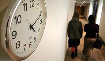 Nordmenn jobber 12 minutter mer