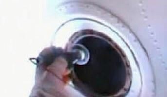 Nyvasket vindu på romstasjonen