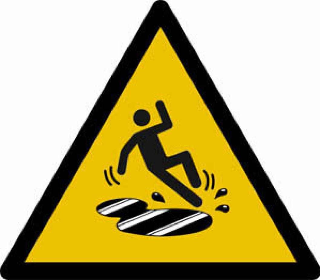 Skilt fare fall cb2848811