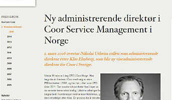 Coor Service Manage­ment får ny adm.dir i Norge
