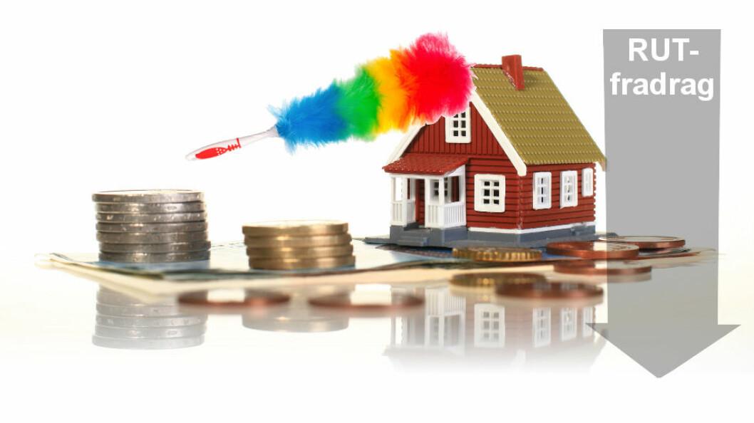 Det medfører ikke riktighet at NAF støtter å innføre en ordning med skattefradrag for renholdstjenester i private hjem (RUT). (Ill.etter Colourbox)