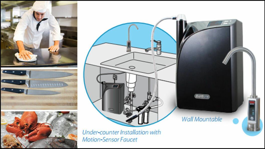BioSure CSS kobles til en kran og ozonholdig vann kan deretter brukes direkte i nærområdet, eller tappes på en spruteflaske. (Foto: Produsenten)