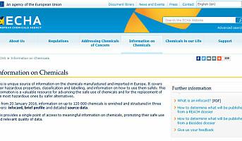 Ny database gir deg økt viten om kjemikalier