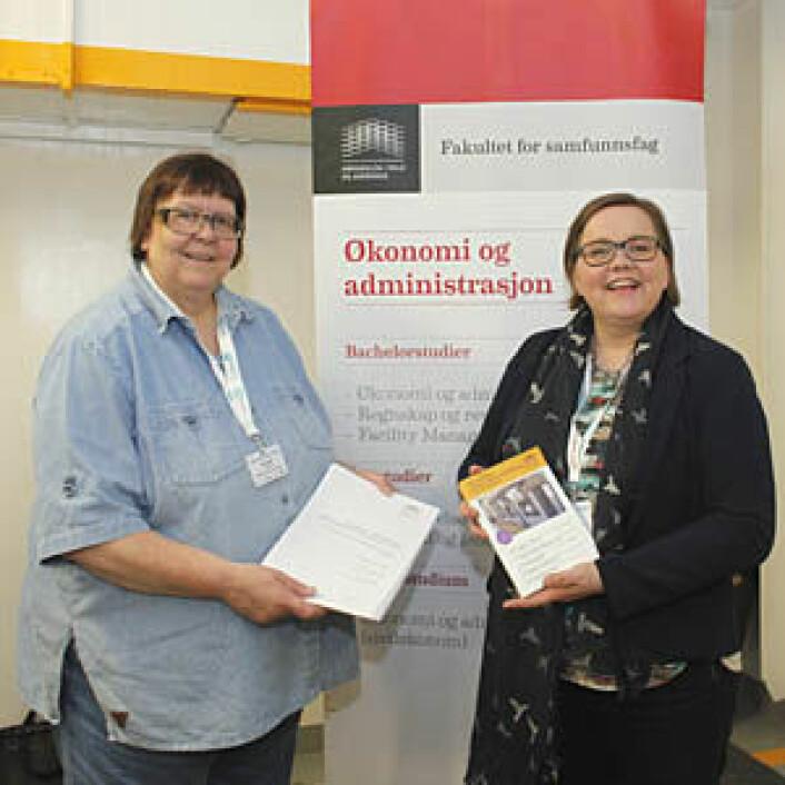 Åse Lindal og Ellen Nygard tilbyr videreutdanning i tekstilforvaltning og vaskeriøkonomi.