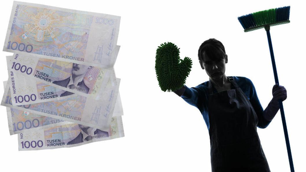 Ill.foto av arbeid og svarte penger: Colourbox og Trond Erik Hillestad