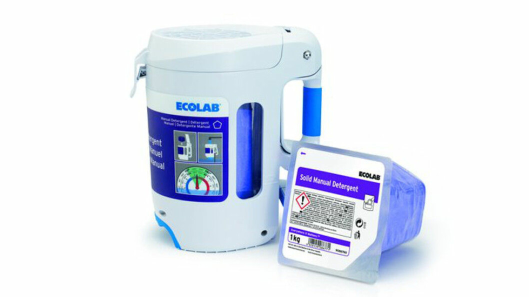 Solid Mobile Dispenser og Solid Manual Detergent. Foto: Ecolab