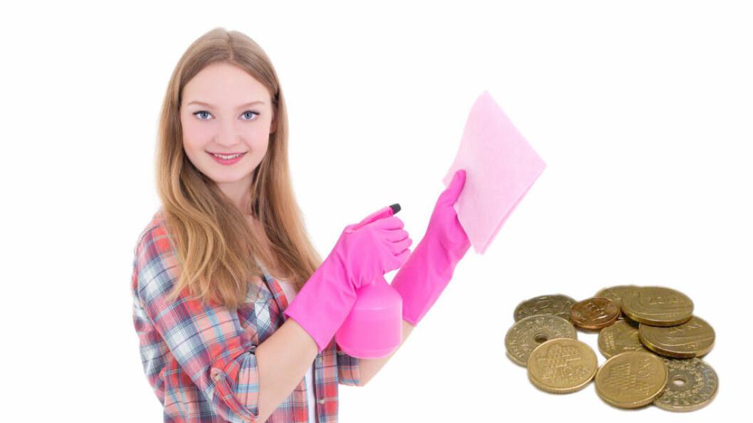 Jobber du med renhold og har fylt 18 år, skal du minst ha kr 174,20 i timen. (Ill.foto: Colourbox)