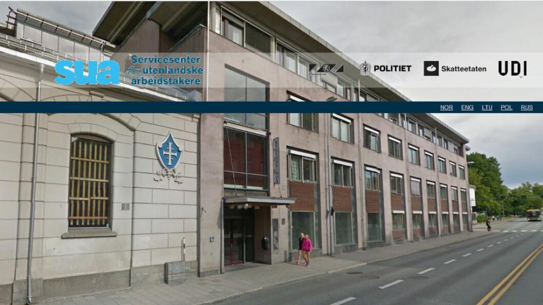 Servicesenter for utenlandske arbeidstakere holder til i Statens hus i Trondheim. (Ill. etter Google og SUA)