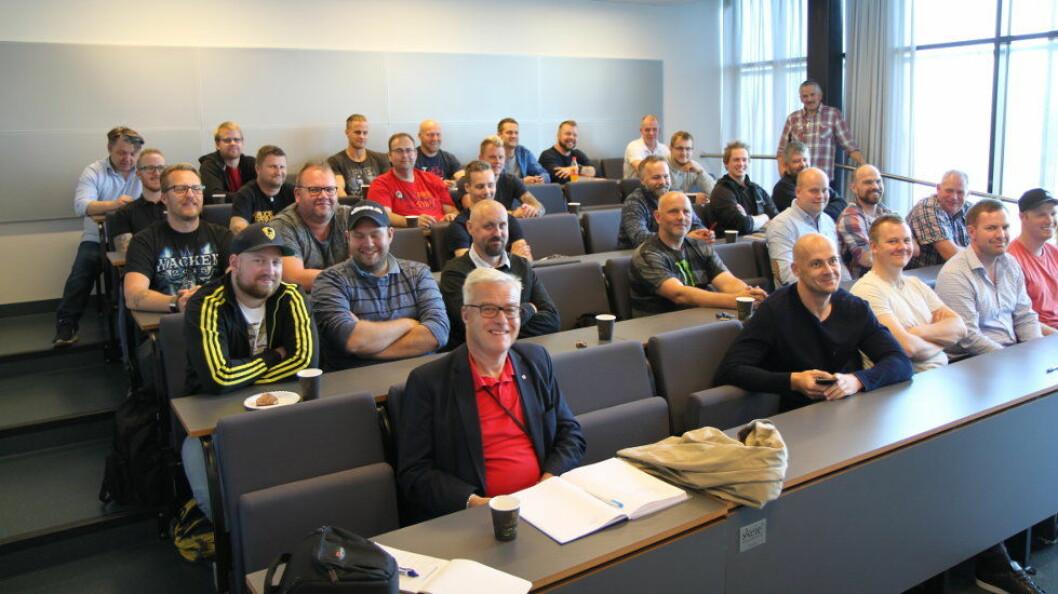 29 studenter skal i to år fordype seg i fuktteknikk ved Kuben, Fagskolen Oslo og Akershus. Foto: Baard Fiksdal, NHO Service