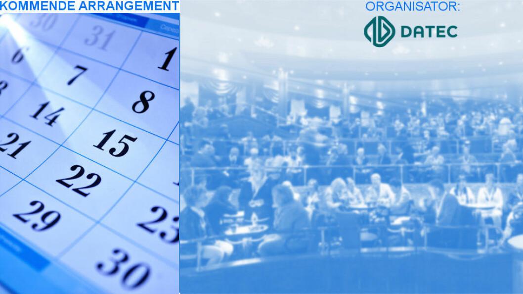 Datec-konferansen 2016 avholdes 1-2/11 på Radisson Blu Gardermoen. Påmeldingsfrist 17. oktober.