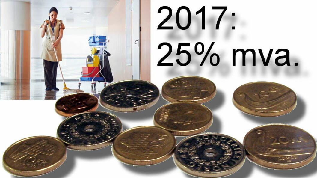 Fra 1/1-2017 får helseforetakene refundert merverdiavgiften dersom de kjøper f.eks. renholdstjenester fra private byråer.