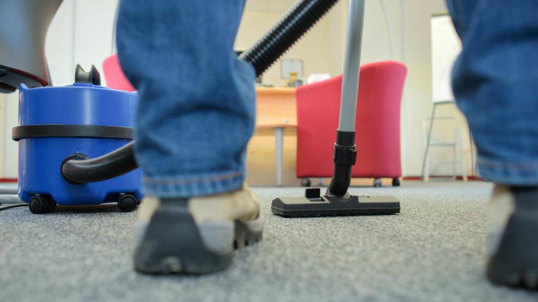 Kontorrenhold utgjør over halvparten av alt konkurranseutsatt renhold. (Ill.foto: Colourbox)
