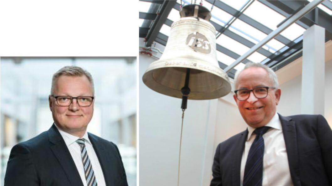 Keld Mosgaard Christensen (til venstre, foto: ISS) har overtatt etter Hans John Øiestad (foto: Pål Sønsteli)