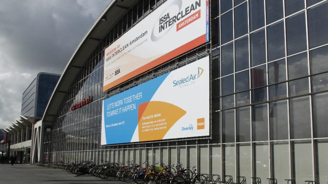 Bain Capital skal være enige med Sealed Air om å overta Diversey Care. (Ill.foto fra Amsterdam-messa ISSA Interclean)