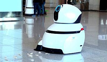 LG tester renholdsrobot på flyplass
