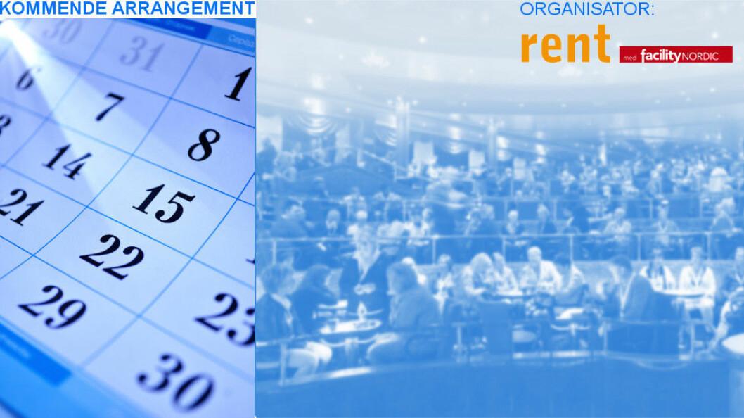 Messen arrangeres av det svenske tidsskriftet Rent i samarbeid med facility NORDIC.