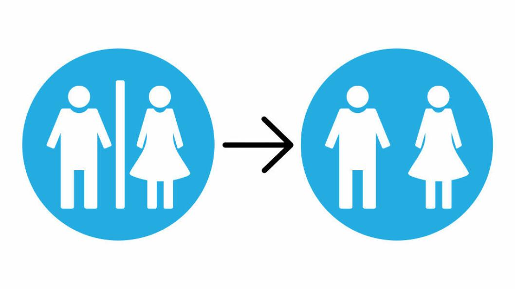 Renholdsjobben er ofte litt annerledes i fellestoaletter enn i kjønnsseparerte toaletter. (Ill. etter Colourbox)
