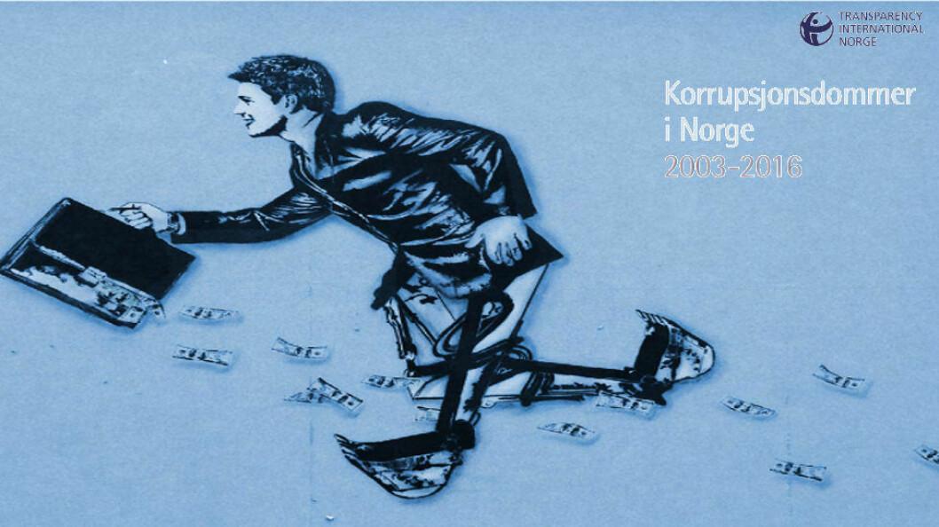 Faksimile fra Transparency International Norge sin oversikt over korrupsjonsdommer.