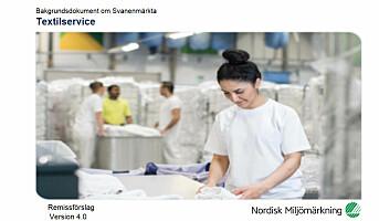 Forslag til nye krav for tekstilservice