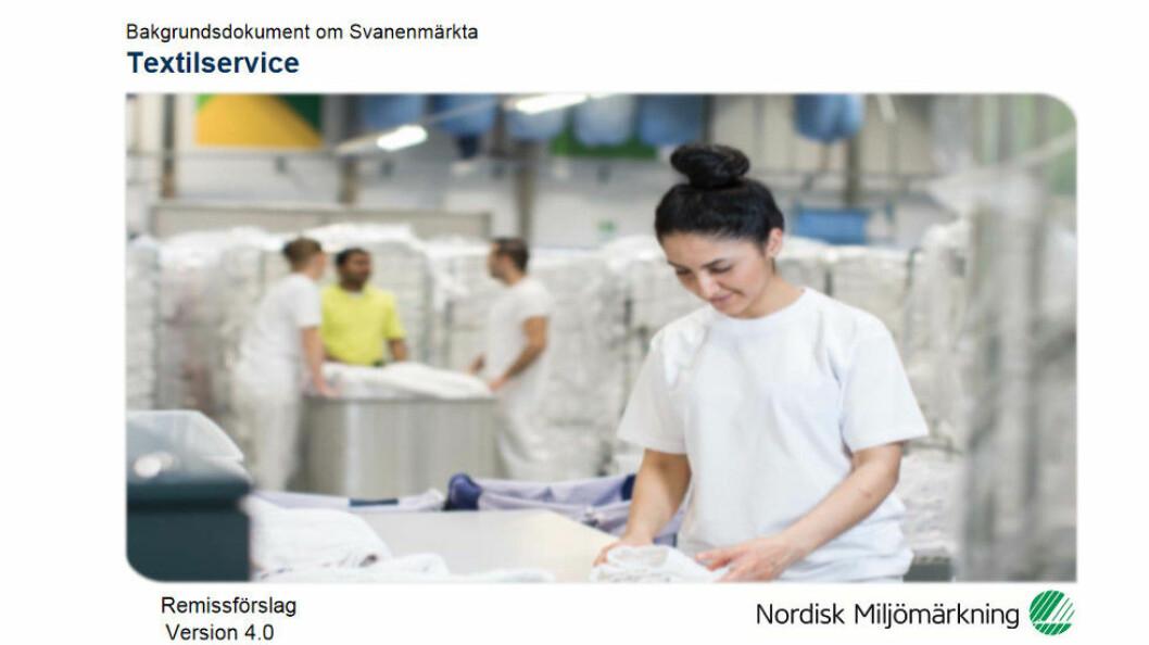 Faksimile etter Nordisk Miljømerkings høringsdokument.