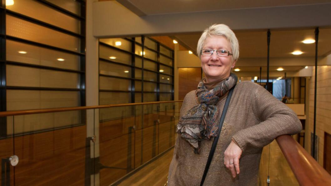 Unny Ingvaldsen, fagansvarlig for renhold i Toma, var spent da sertifiseringen av renholdstjenesten begynte. – Dette er bare starten, ser hun i intervju med Svanemerket. (Arkivfoto: teh)