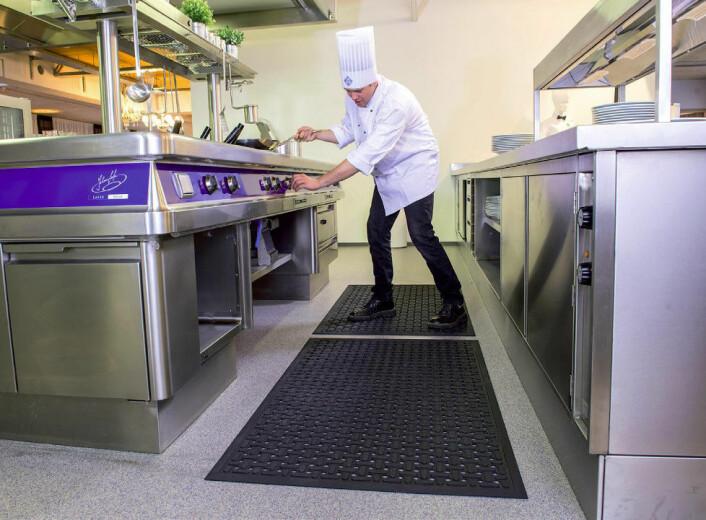 Avlastningsmatte for våte områder, som kjøkken.