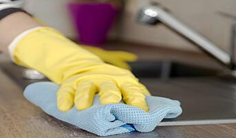 Kortvarig virkning av antibakterielle tørk