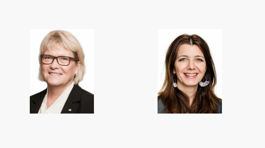 Anslagene over svart renhold i private hjem varierer fra 50 til 80 prosent, opplyser Anne Jensen og Anne-Cecilie Kaltenborn i NHO Service og Handel. Foto: NHO Service og Handel