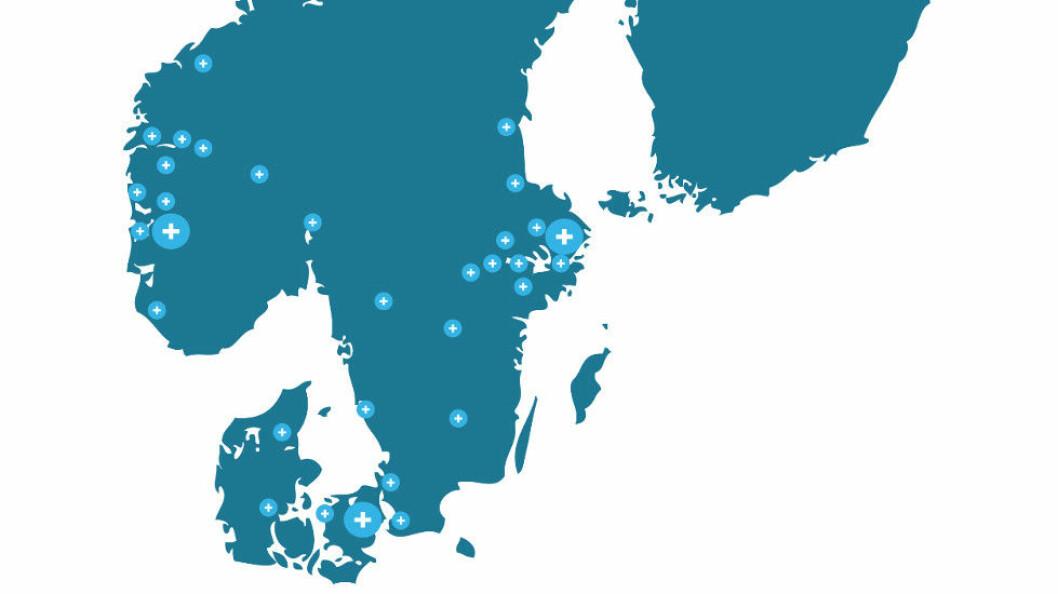 Lokale avdelinger i det danskeide Alliance+. (Illustrasjon er hentet fra deres årsrapport for 2017.)