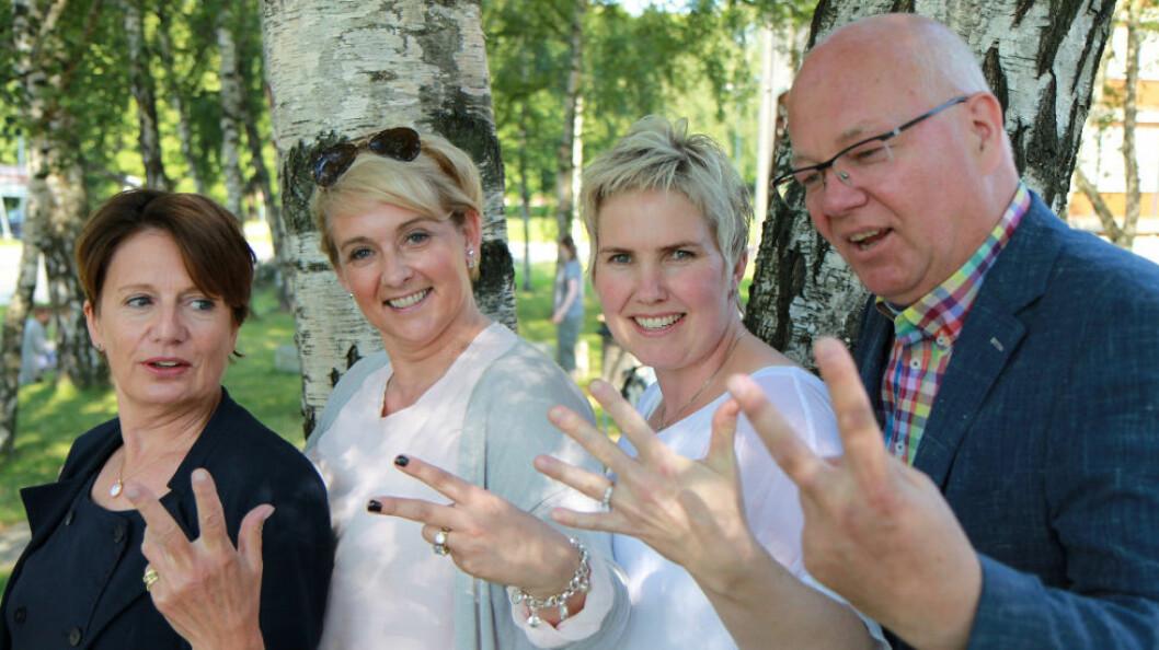 Sunne Henders prosjektgruppe har bestått av Kirsti Stokland (NHO SH), Trude Hov Sørensen (Raise Gruppen), Marianne Knapstad (BB ServiceSystemer) og Tore Herseth Barlo (NHO SH). (Foto: Baard Fiksdal)