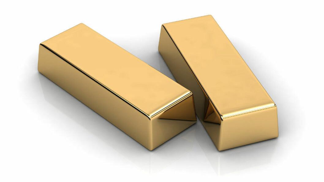 Renholderen fant 7 gullbarrer hver på 1 kg (ill.foto: Colourbox).
