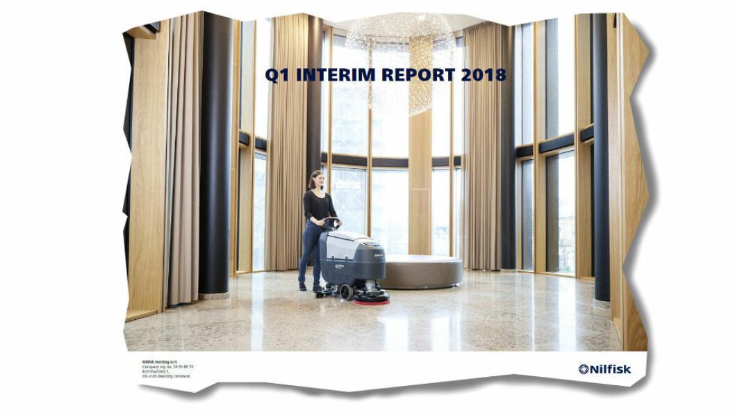 Faksimile fra Nilfisks kvartalsrapport for 1. kvartal 2018. (Ill.: Nilfisk).