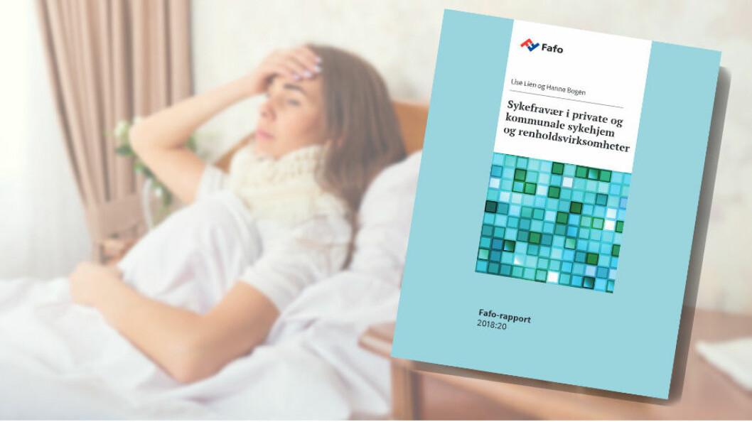Fafos nye rapport om sykefravær ser på suksesshistorier hos blant annet seks renholdsvirksomheter. (Ill. etter Fafo og Colourbox)