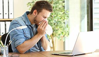 Gode hygienerutiner kan redusere sykefraværet