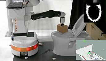 Toalettet rengjøres av en robot