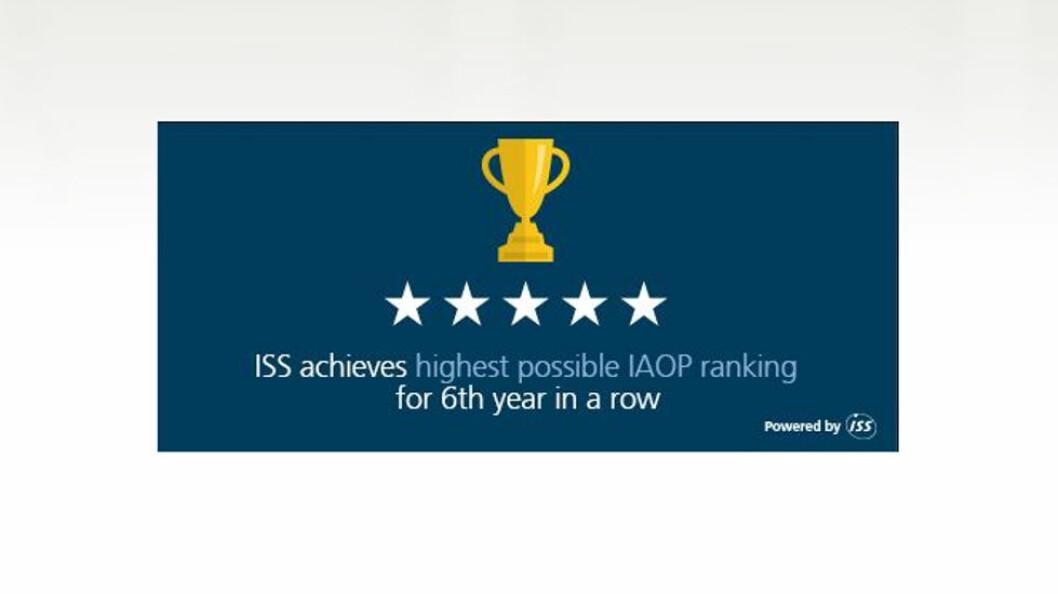 IAOP måler selskapene blant annet på kundetilfredshet, innovasjon og samfunnsansvar. Figur: ISS)