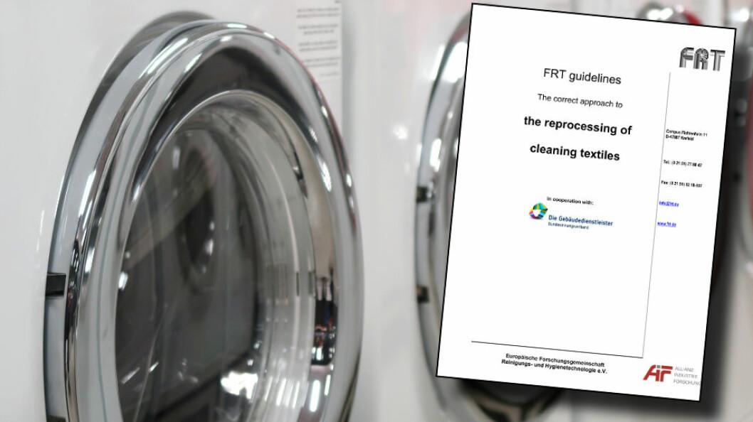 FRT-guiden gir gode råd om håndtering og vask av mopper og kluter. Kvalitetssikring i praksis!