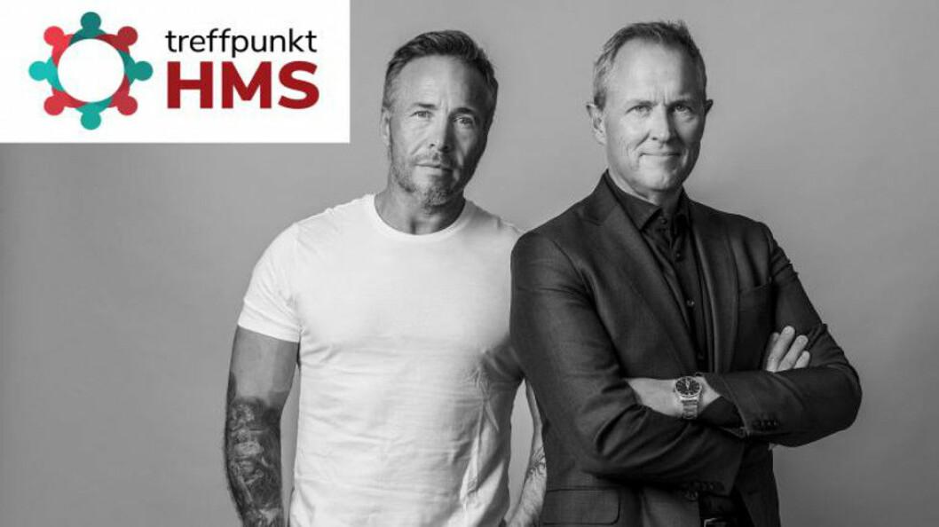 Michael Andreassen (t.v) og Per Henrik Stenstrøm er første par ut når konferansen Treffpunkt HMS arrangeres til høsten.