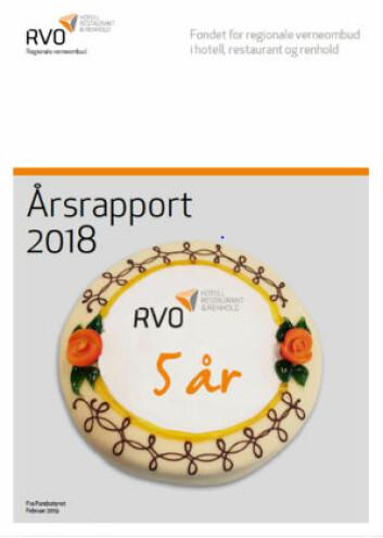 RVO årsrapport 2018 for HRR-bransjene.