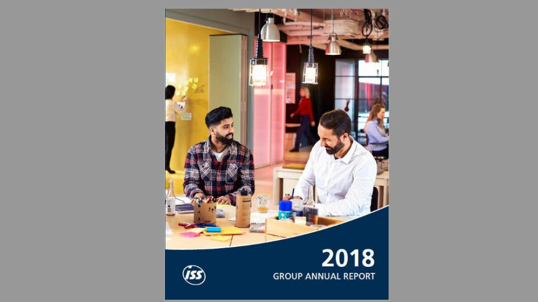 Finanstallene for 2018 endte omtrent der ISS forventet. (Faksimile fra ISS Group Annual Report 2018)