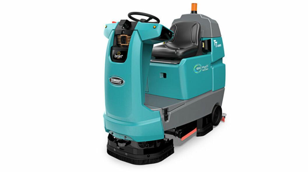 Roboten T7AMR kan også brukes som sittebil. Foto: Tennant