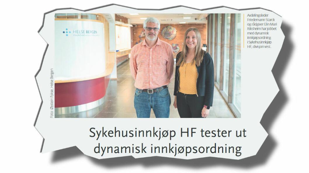 Faksimile fra Sykehusinnkjøp HF og Øystein Fykse, Helse Bergen.