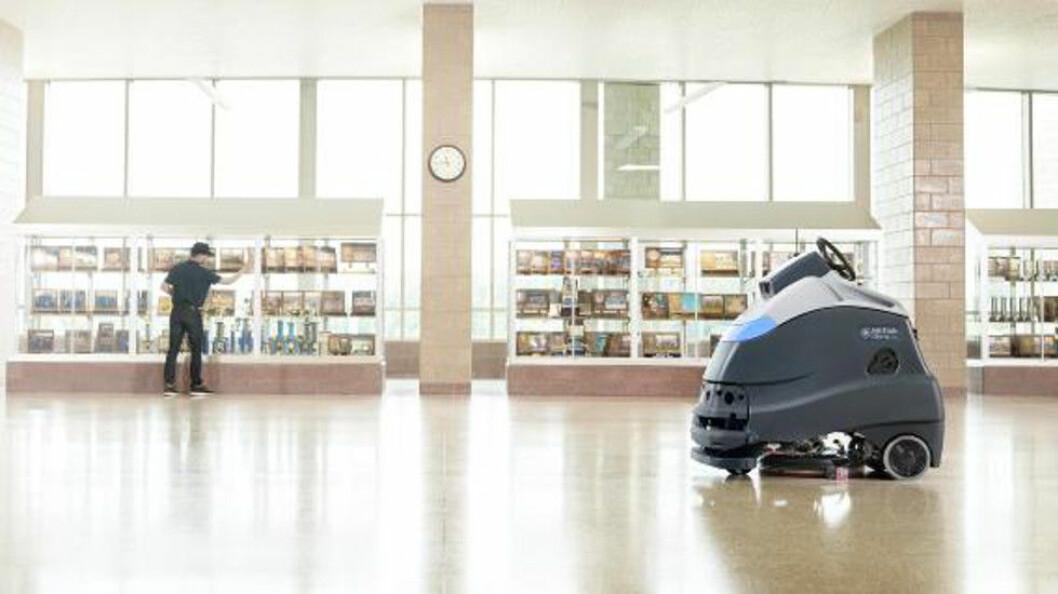 Etter et lite hvileskjær er Nilfisk tilbake på robotmarkedet med sin Liberty SC50. (Foto: Nilfisk)