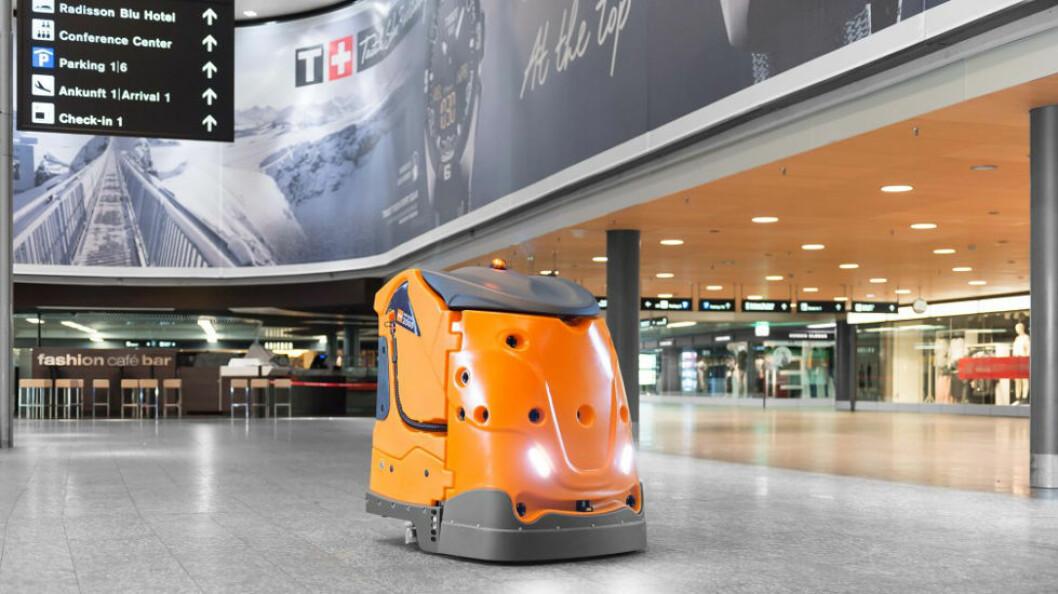 Taski Swingobot 3000 ser muligens omtrent slik ut. Bilde fra CMS Berlins nettside. (Foto: Diversey)